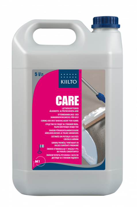 Kiilto Care curing and dust binding agent for floors