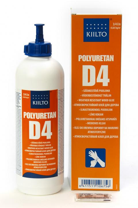 Kiilto D4 Polyuretan Säänkestävä puuliima