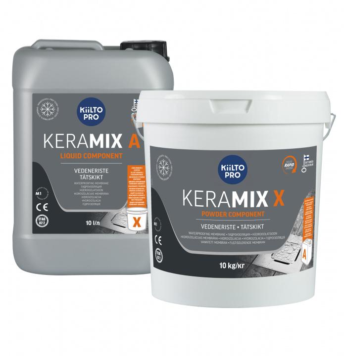 Kiilto Keramix Nesteosa A liquid + Jauheosa X powder