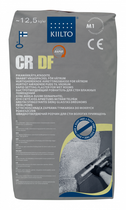 Kiilto CR DF Pikamärkätilatasoite 0-5 (10) mm